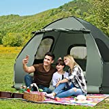 GYMAX Camping Tent Cot, Folding Tent Combo with Air