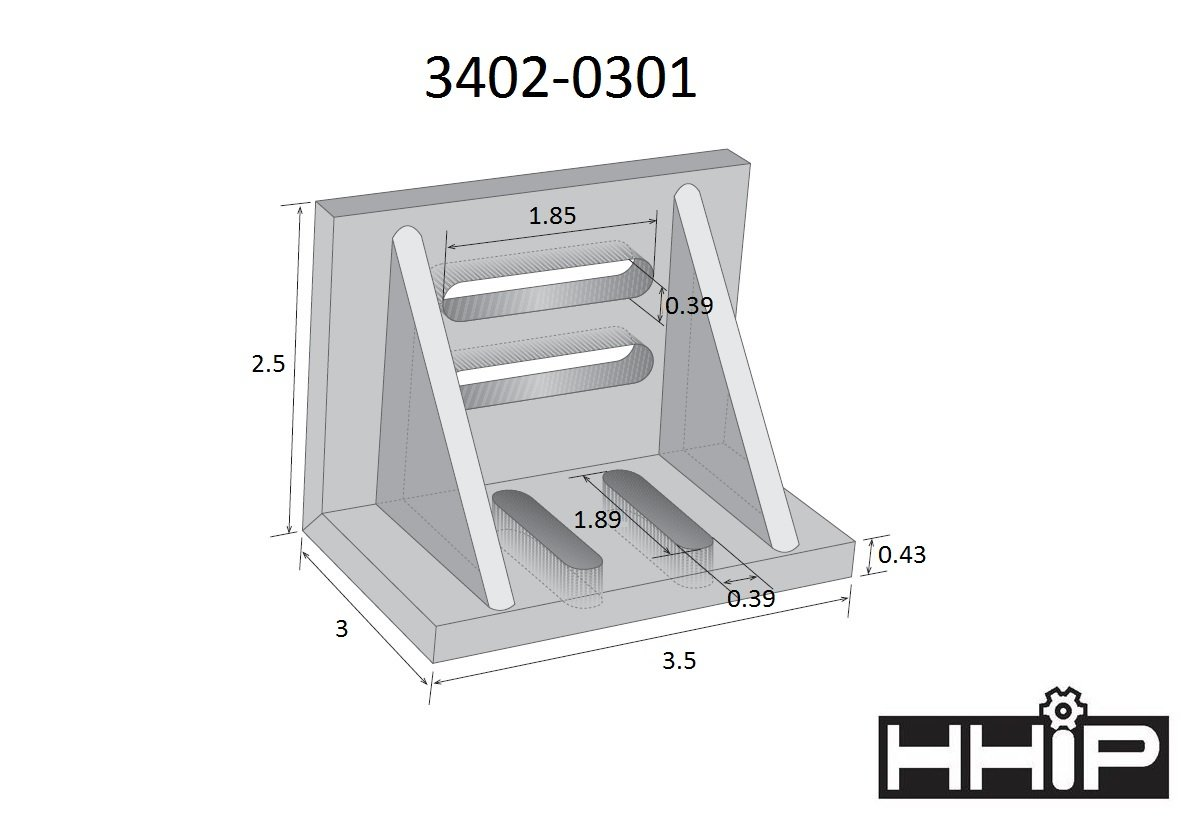 """Ground .0005/"""" Webbed Slotted Angle Plate 7x5-1//2x4-1//2/"""" High Tensile Cast Iron"""