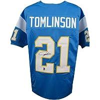 $159 » LaDainian Tomlinson Autographed San Diego Chargers Custom Blue Football Jersey - JSA COA