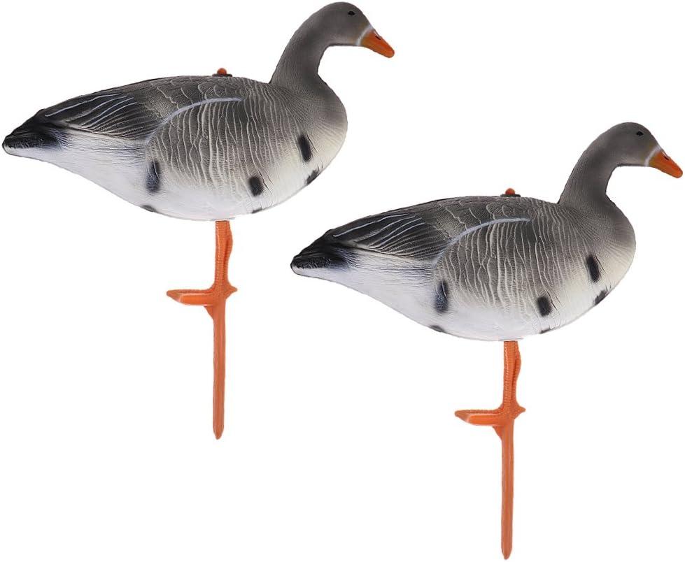 2 Pz Esche Stile XPE Caccia Oca Richiamo Di Pesca Drake Ornamenti Per Giardino Decpr