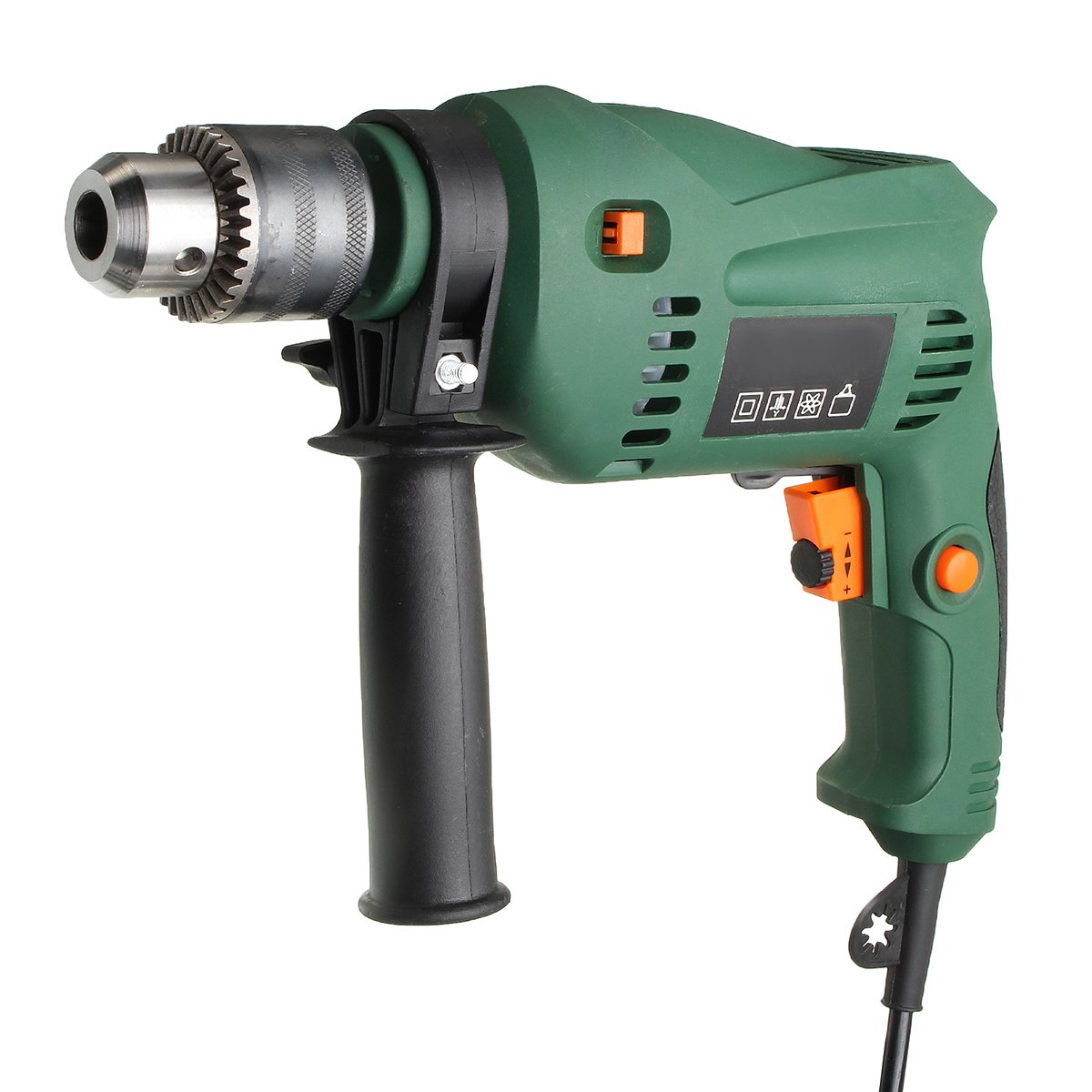 Raitool 220V 1580W Electric Power Drill Impact Duty 13mm Chuck Speed Drill Set
