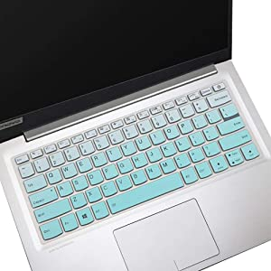 "Lenovo Yoga C740 14 Keyboard Cover for Lenovo Yoga C940 14 Laptop Keyboard Skin, ThinkBook 14s & 13s Laptop Keyboard Cover Protector, Ombre Mint (NOT for 15.6"" Lenovo Yoga C740 C940)"