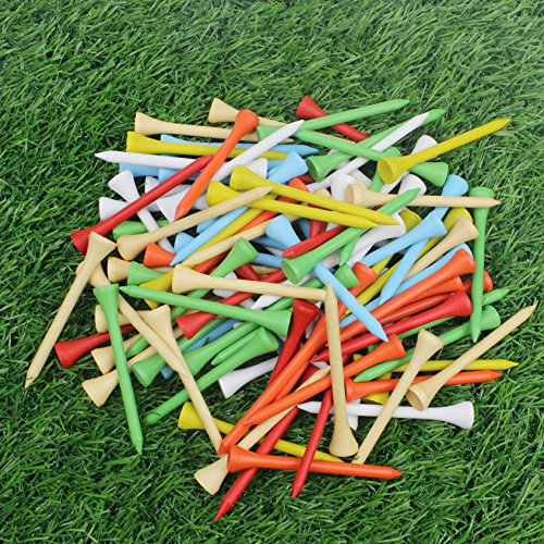 Crestgolf Golf Tee 2-3/4 inch Deluxe Tee Pack of 100 (mixed color)