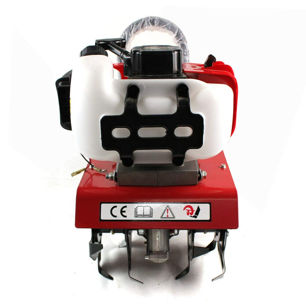 2 Temps// 1.45KW// 6500RPM OU BEST CHOOSE Motobineuse /à Essence Compact 52cc Motoculteur de Jardinage Cultivateur Thermique