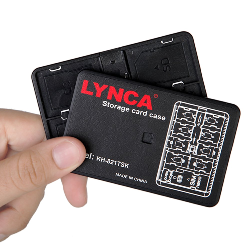 Labato tarjeta de memoria funda de transporte para ranuras ...