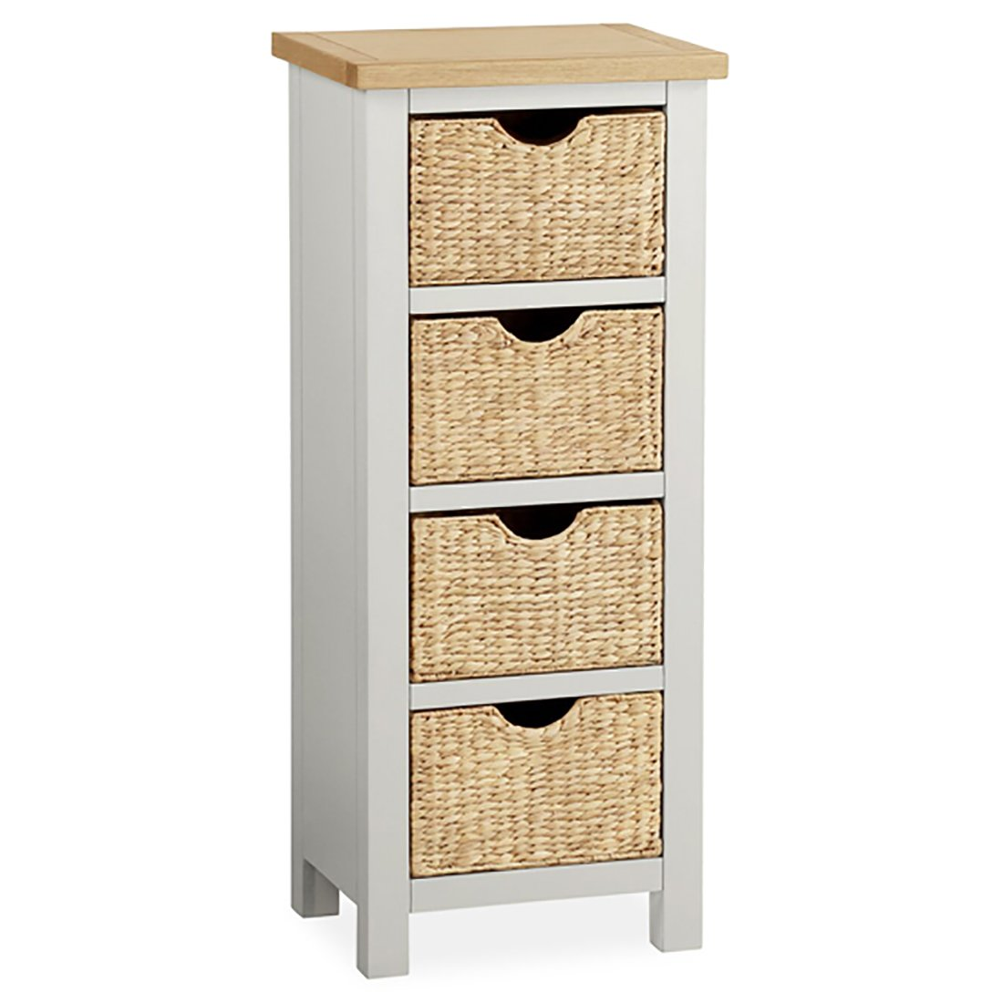 outlet store 1423d b82ce Farrow Grey Painted Tallboy Basket Chest: Amazon.co.uk: DIY ...