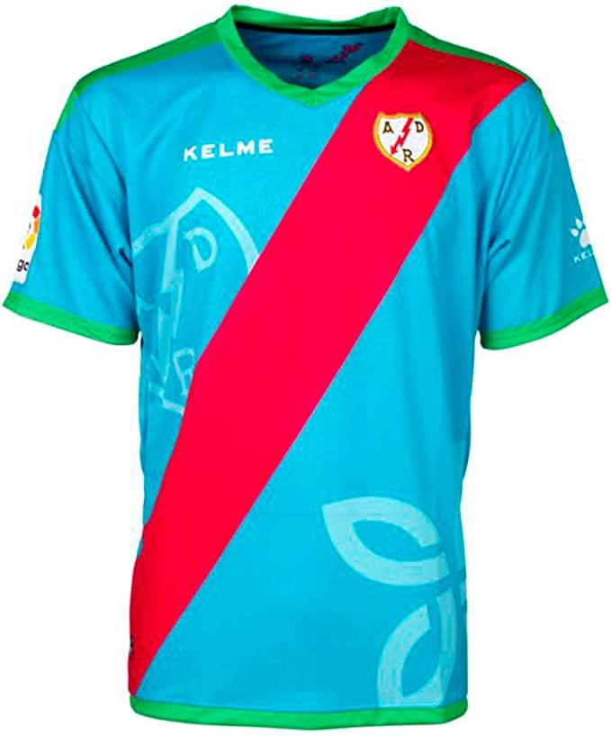 KELME Rayo Vallecano Tercera Equipación 2018-2019, Camiseta, Sky Blue, Talla XL: Amazon.es: Deportes y aire libre