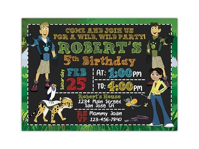 wild kratts birthday party invitations any age custom