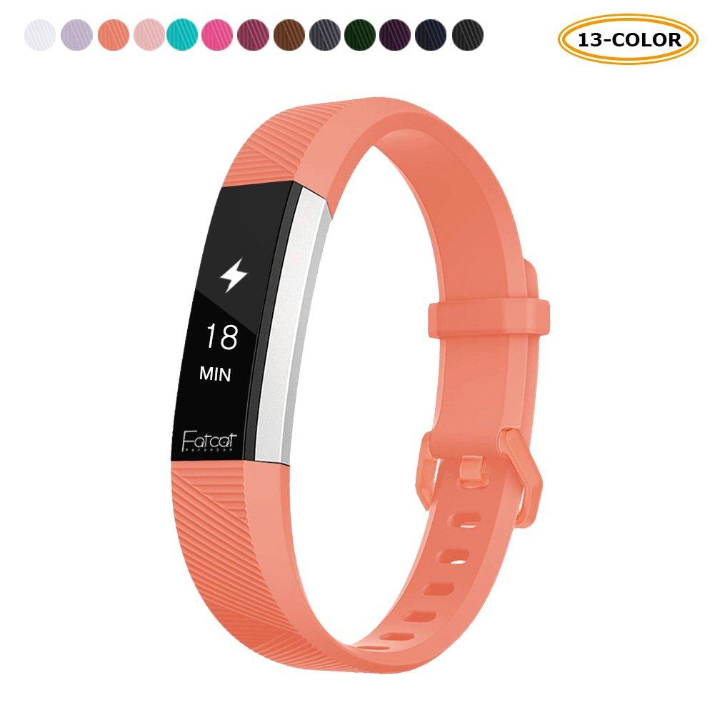 FatcatBand alta Fitbit HR e alta strap elastici, classico morbido silicone sport braccialetto regolabile in sostituzione di cinghie per Fitbit alta (2016) e alta Fitbit HR (2017) fitness Wristband