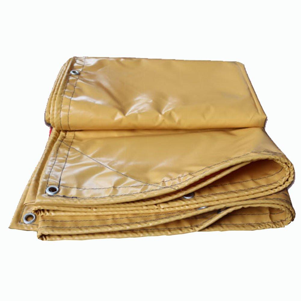 JIANFEI オーニング 防水耐寒性日焼け止めライト耐摩耗PVC厚さ0.35mmカスタマイズ可能 (色 : イエロー いえろ゜, サイズ さいず : 4x5m) 4x5m イエロー いえろ゜ B07FTW5TXR