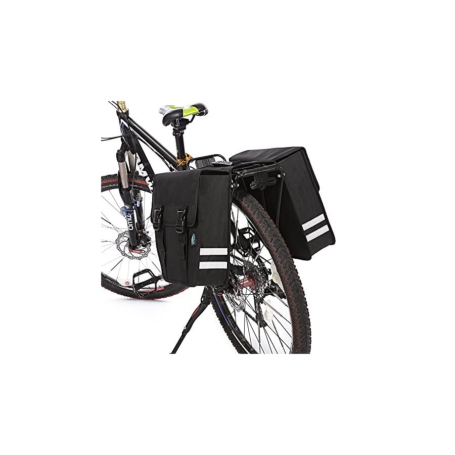TRAVELLOR Mountain Bike Rear Seat Bag, Cycling Bag Series, 600D Multi Functional Oxford Waterproof Bicycle Bag Cycling Rear Seat Trunk Bag Panniers Bicycle Accessories