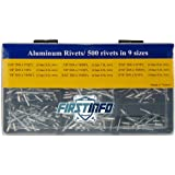 FIRSTINFO 箱詰めのブラインドリベットセット アルミ 九つの常用サイズ付 500本付