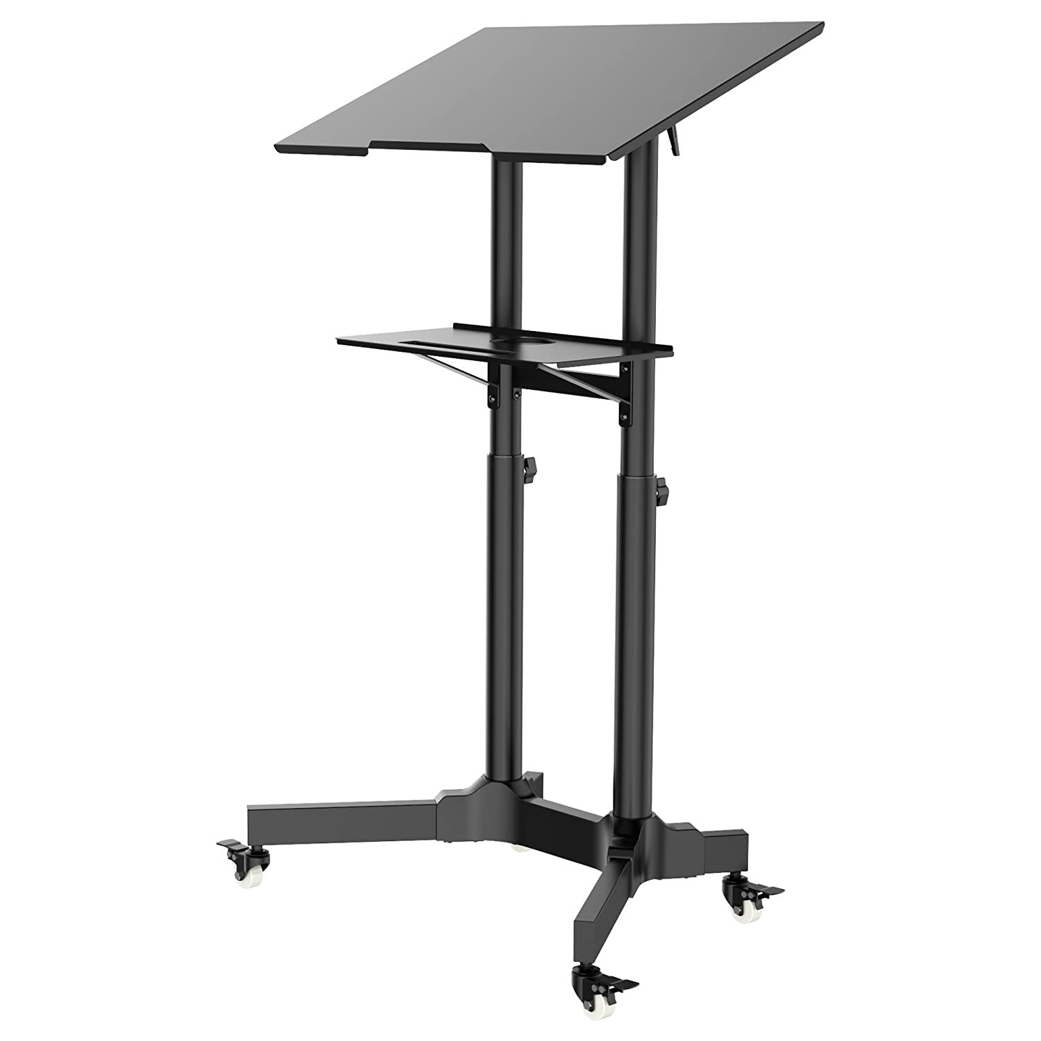 1homefurnit Mobile Table Laptop Desk Stand Notebook Cart Tray Compact Adjustable Workstation 1home furnit