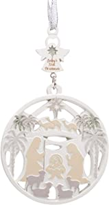 Soft White Angel Nativity 3.25 Inch Resin Decorative Holiday Ornament
