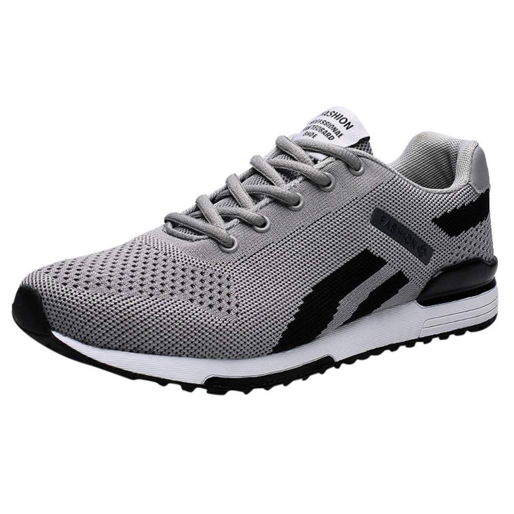 Sneakers for Men 2019,Caopixx Men's Lightweight Breathable Running Tennis Sneakers Casual Walking Shoes Gray