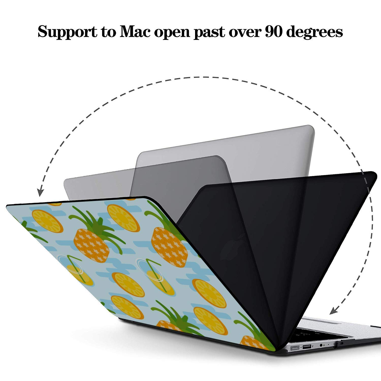 Laptop Protector Summer Sweet Cute Fruit Pineapple Plastic Hard Shell Compatible Mac Air 11 Pro 13 15 Laptop Shell Protection for MacBook 2016-2019 Version