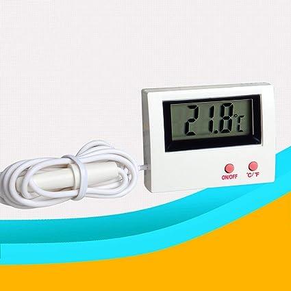 YCDC Mini Termómetro de Depósito de Peces, Acuario, Monitor de Temperatura del Agua,