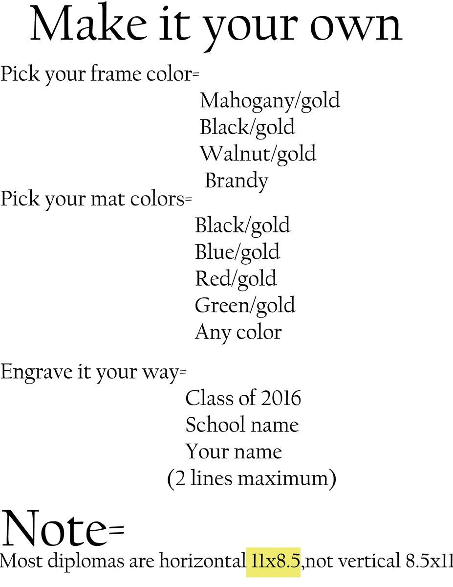 amazon com 3art diploma tassel frame 11 x 8 5 mahogany black