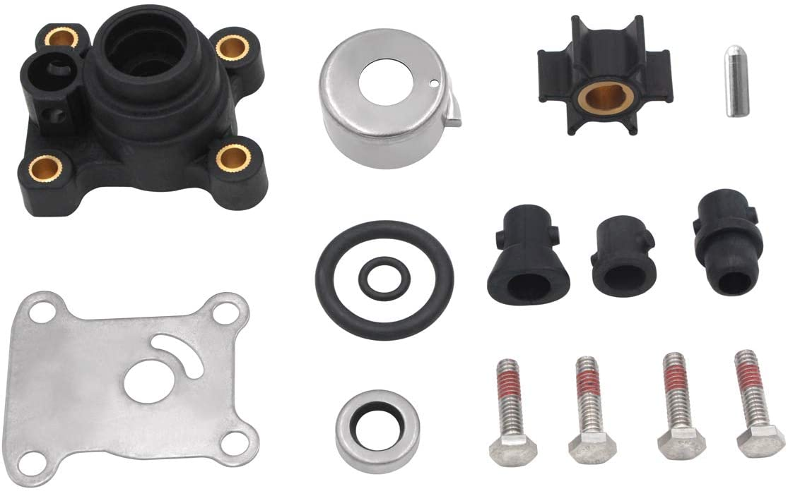 GHmarine Water Pump Impeller Kit for Johnson Evinrude 8-15HP Outboard with Housing 1974-UP 18-3327 394711