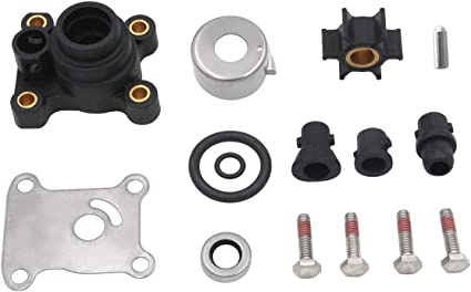 GHmarine Water Pump Impeller Kit for Johnson Evinrude 8-15HP Outboard with Housing 1974-UP 18-3327,394711