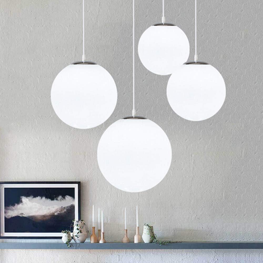 lustre bola de cristal, lámpara colgante, lámpara interior simple para dormitorio salón pasillo restaurante café, (20CM)