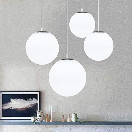 AUA Lampadario con sfera di vetro, Lampada a sospensione, Lampada interna  singola per Camera da letto, Soggiorno, Corridoio, Ristorante, Bar 1pcs ...