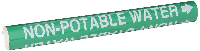 White On Blue Printed Plastic Sheet B-915 Legend Oxygen Legend Oxygen Brady 4107-G Brady Strap-On Pipe Marker
