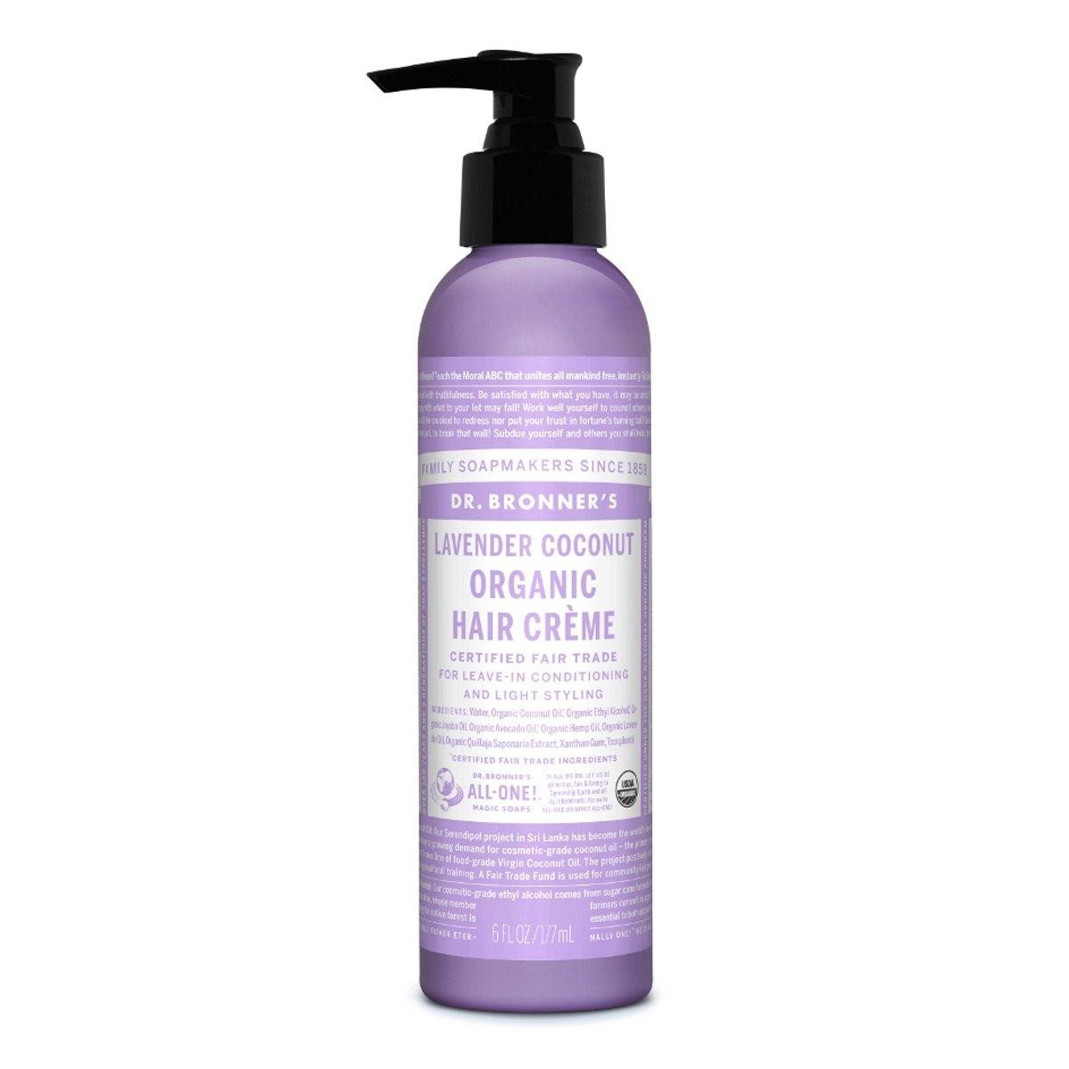 Dr. Bronner'S Magic Soaps Dr. Bronner - Lavender & Coconut Hair Conditioner & Styling Creme, 6 Fl Oz Cream 83875-BA
