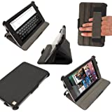 iGadgitz Black PU Leather Case Cover for Google Nexus 7 2012 1st Generation Android 4.1 Tablet 8GB 16GB With Sleep/Wake Hand Strap + Screen Protector (NOT suitable for the 2nd Generation August 2013)