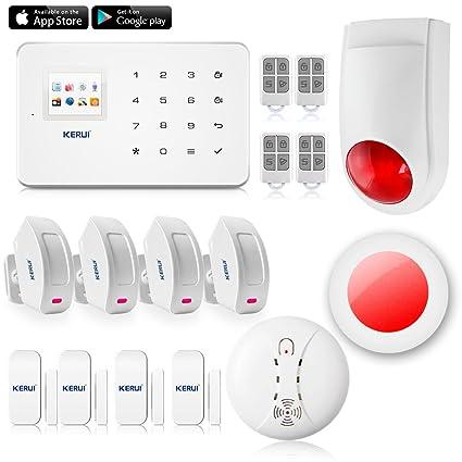 KERUI G18 seguridad en casa sistema de alarma inalámbrica GSM con Sensor de Puerta y detector