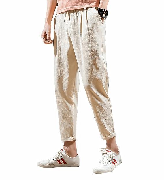 c5b7fa12506 ... Harem Baggy Casual Anchos Hippies Transpirable Pantalones De Lino, Hombre  Pantalón Lino para Baggy Casual Harem Pantalones Ropa Etnica Tamaño Grande:  ...