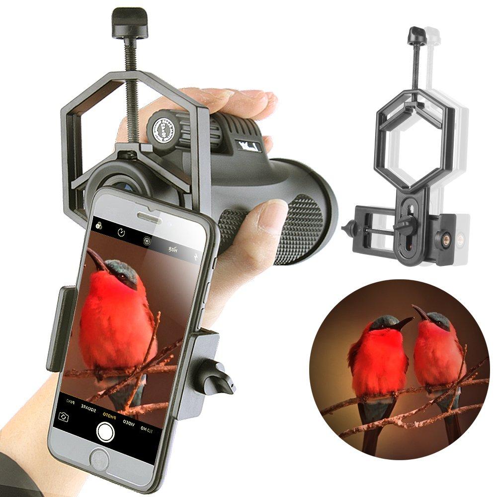 Landove Smartphone Adapter Mount for Spotting Scope Telescope Microscope Binocular Monocular - Adapter for Eyepiece Diameter 32mm to 62mm - for Phone Sony Samsung Moto Note Etc(Big Type)
