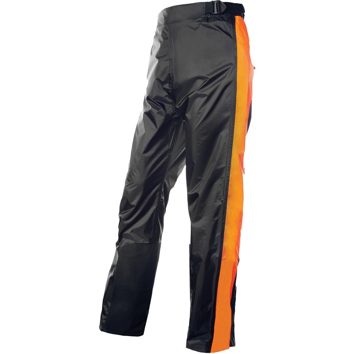 Olympia Horizon Adult Rain Pant Street Motorcycle Rain Suit - Black/Neon Orange/X-Large/2X-Large