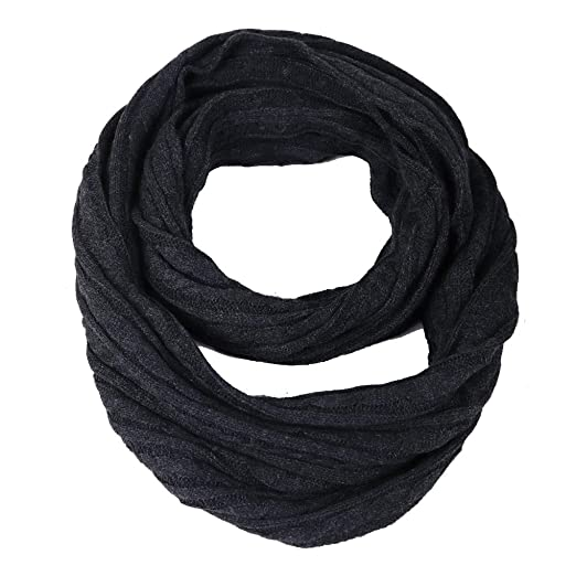a6bec65454a FORBUSITE Stylish Men Cable Soft Knit Infinity Scarf Winter