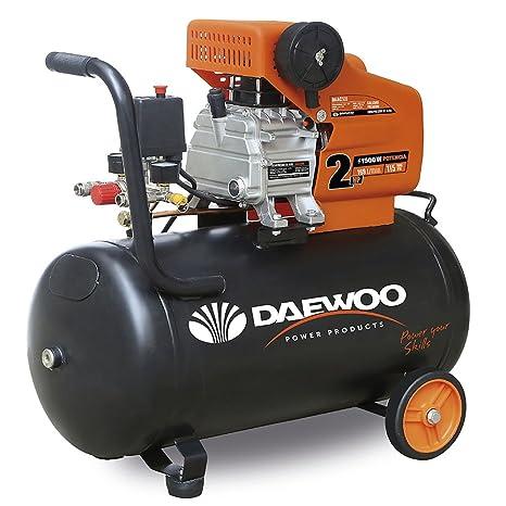 Daewoo DAC50D - Compresor Eléctrico 1.5 HP, 240 V, 50 L