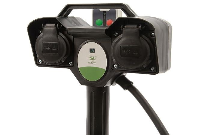 Multipresa da giardino entrate ip con telecomando luci natale