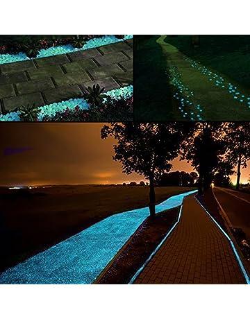 Middletone 100 piedras luminosas piedras fluorescente, se usan para el camino del jardín y la