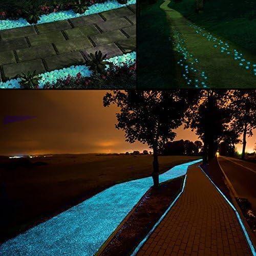 Middletone 100 piedras luminosas piedras fluorescente, se usan para el camino del jardín y la decoración, azul: Amazon.es: Jardín