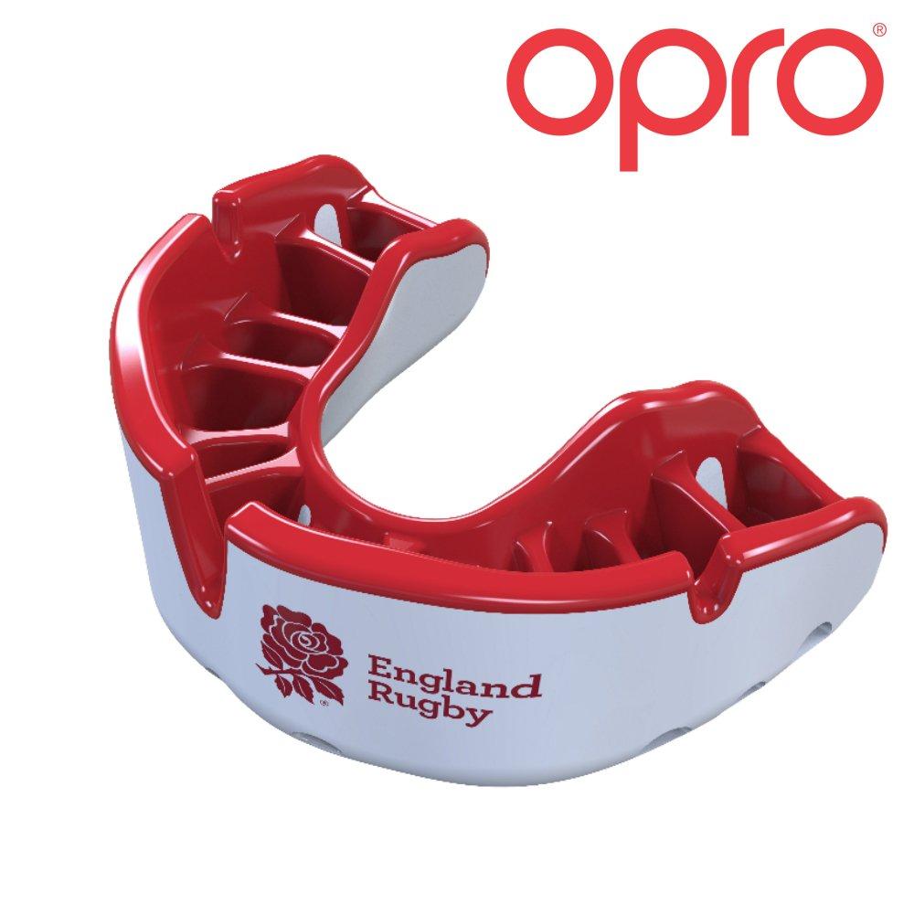 Opro Mundschutz Gold Selbst Passform, Self-Fit mundschutze für Rugby, Hockey, MMA, Boxen, Lacrosse, American Football und Kontaktsportarten. Entworfen und Hergestellt in Großbritannien