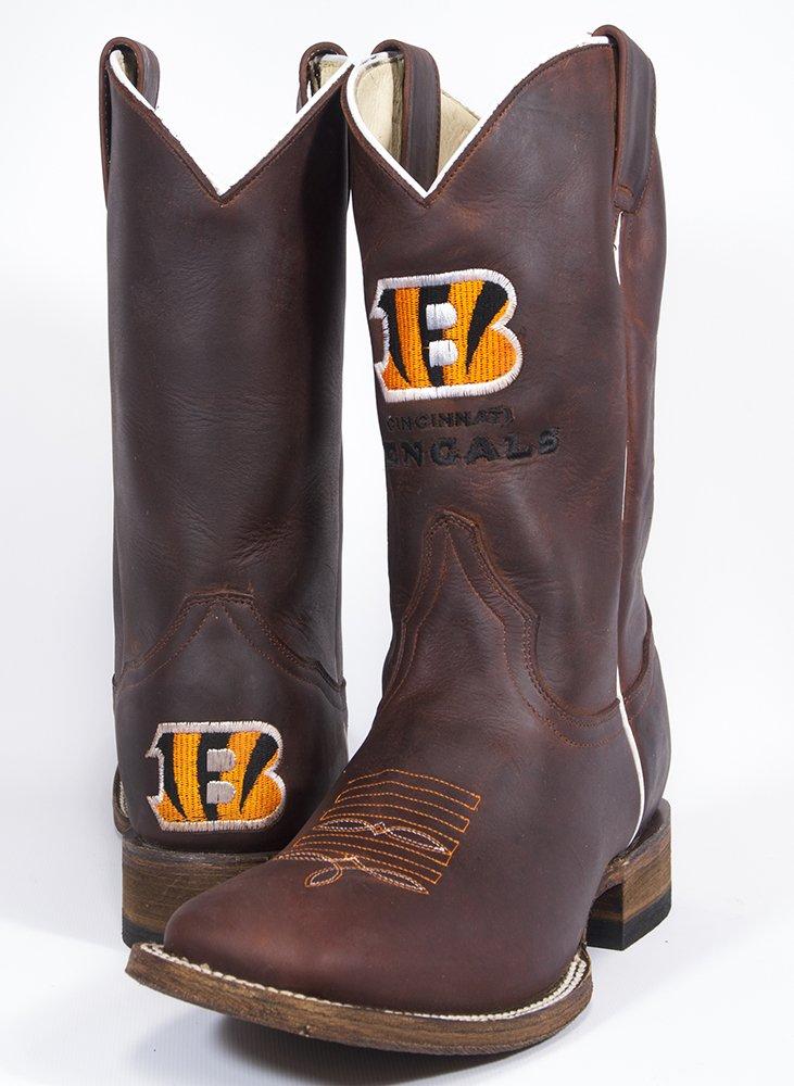 Old Pro Leathers NFL Cincinnati Bengals Herren Öl Öl Öl Tan quadratisch Fuß Western Stiefel, Braun, 9,5 f56767