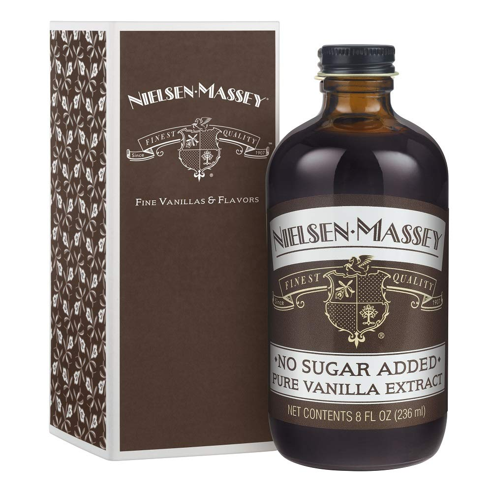 Nielsen-Massey No Sugar Added Pure Vanilla Extract, with Gift Box, 8 ounces