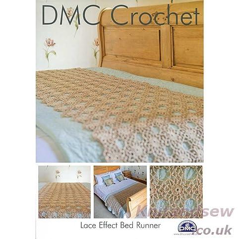 Amazon Dmc Lace Effect Bed Runner Crochet Pattern 14940l By Dmc