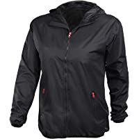 ALPIDEX Chaqueta Impermeable Mujer con Capucha, Transpirable, Ligera, Impermeable, Cortavientos - Talla S M L