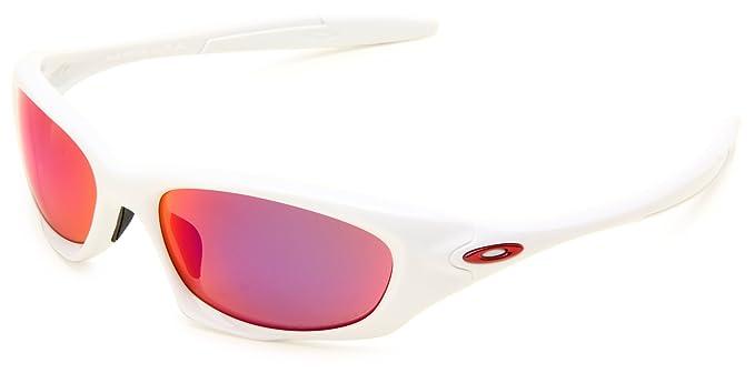 oakley twenty sunglasses polarized lens  oakley mens twenty oo9157 05 polarized oval sunglasses,white frame/red iridium polarized