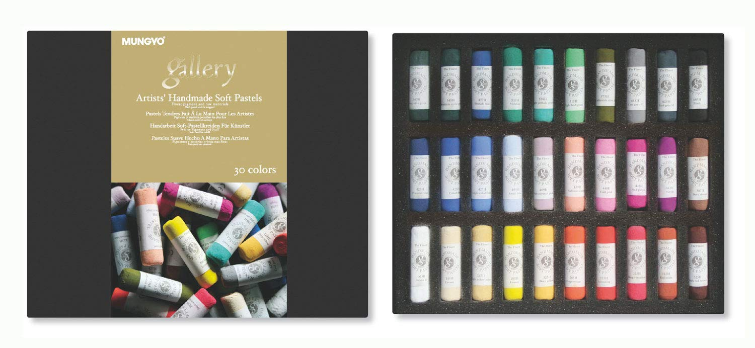 Mungyo Gallery Handmade Soft Pastel Set of 30 - Assorted Colors by MUNGYO