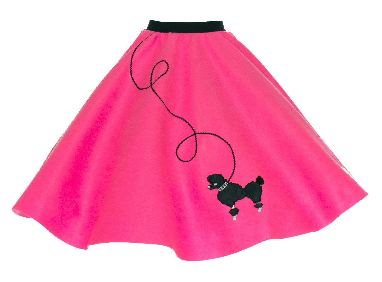 Hip Hop 50s Shop Adult Poodle Skirt Hot Pink XL/2X