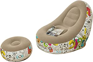 Inflatable Bean Bag Chair Lazy Sofa Inflatable Couch Home Decor for Indoor Living Room Bedroom, Outdoor Travel Camping Picnic Children Adult