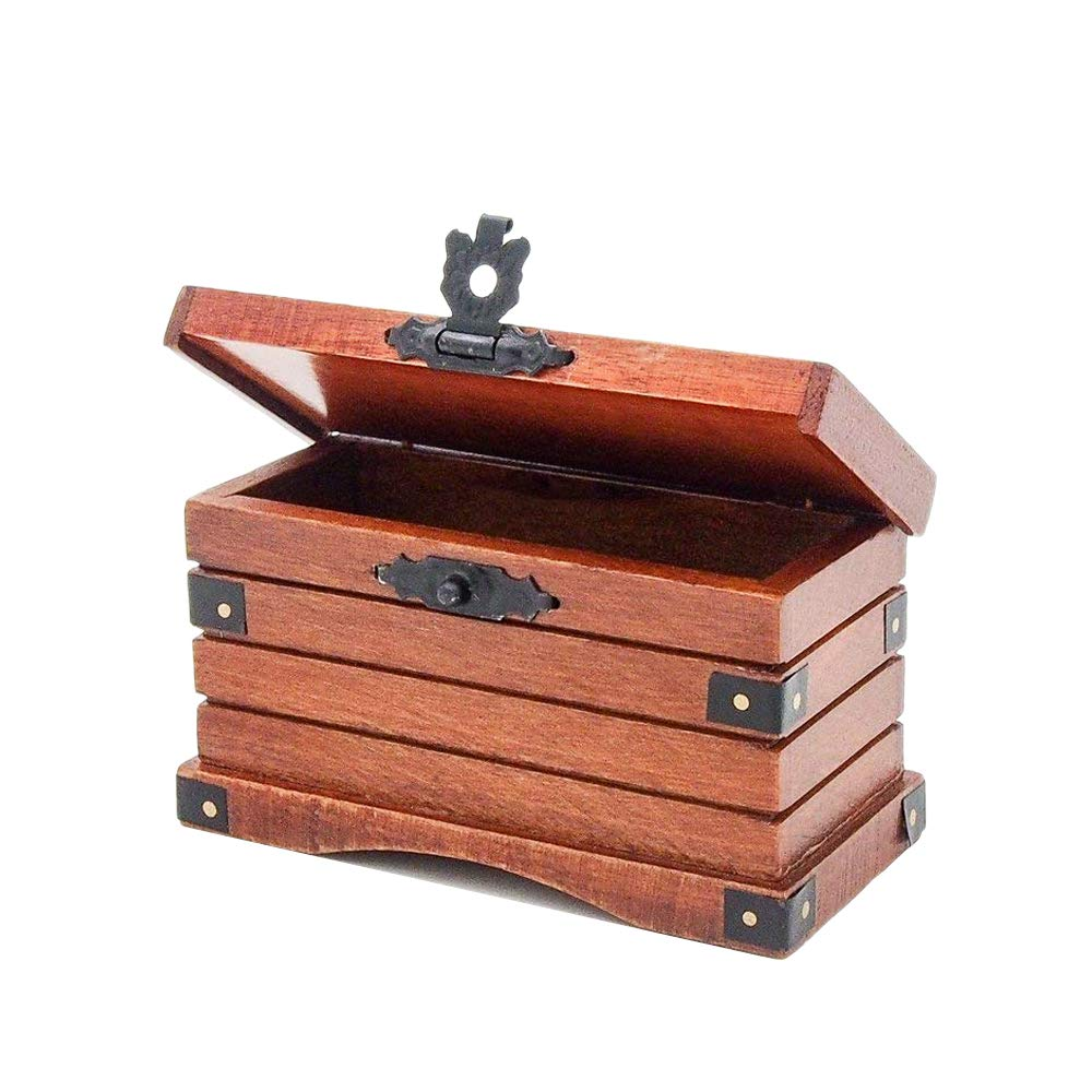 Odoria 1:12 Miniature Wooden Storage Trunk Vintage Chest Dollhouse Decoration Accessories B072TVQCZT