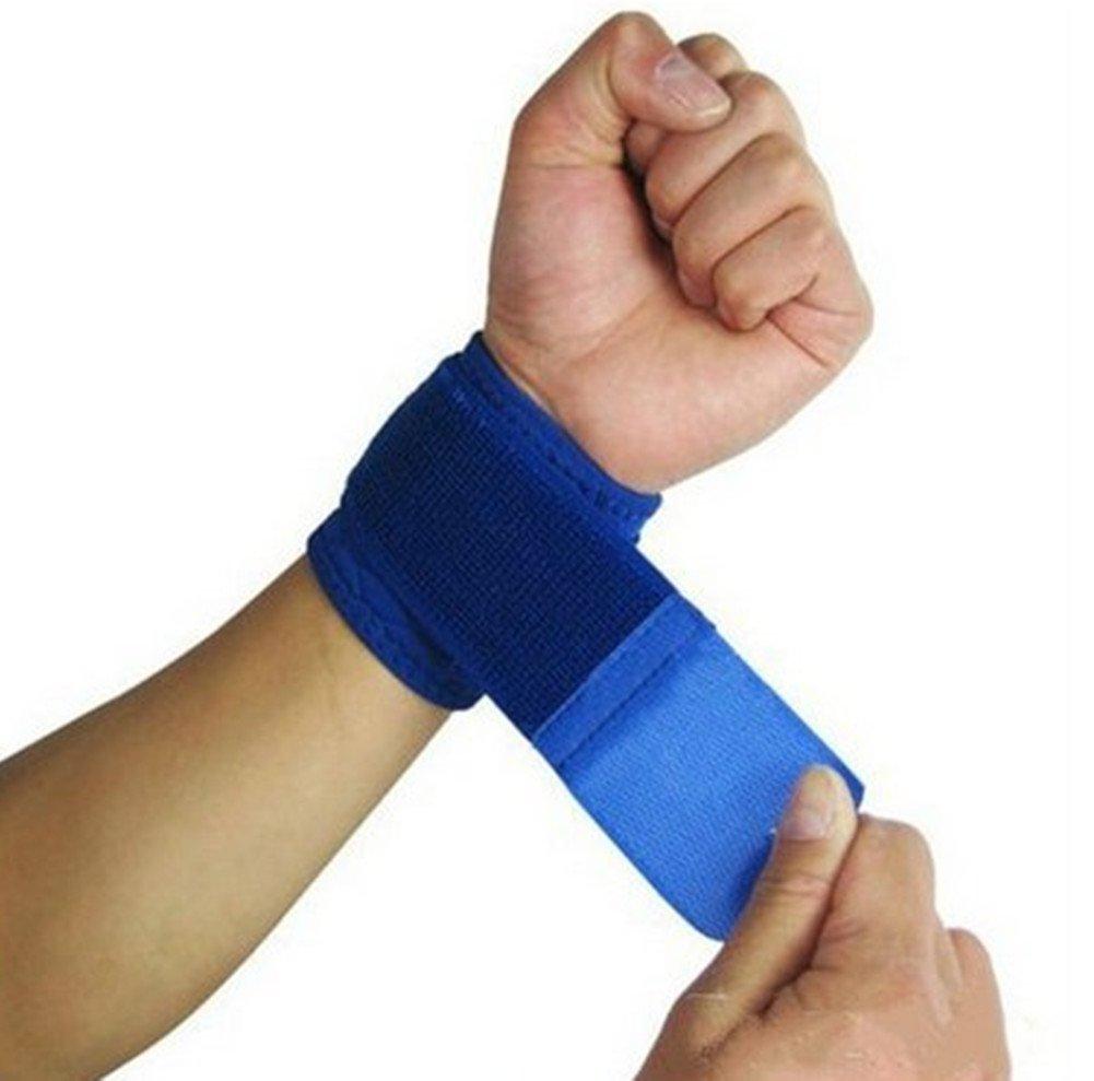 Cdet 1Par Pulsera de entrenamiento algodón banda de sudor de muñeca deportes baloncesto wristband sweatband Interior al aire libre yoga dance ejercicio,Azul