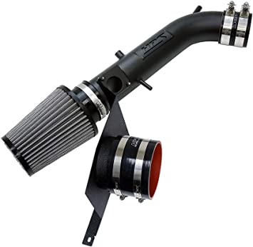 HPS Performance 827-111WR Shortram Air Intake Kit with Heat Shield Wrinkle Red